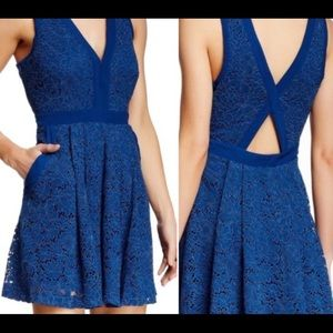 Free people lovely in lace dress navy size small